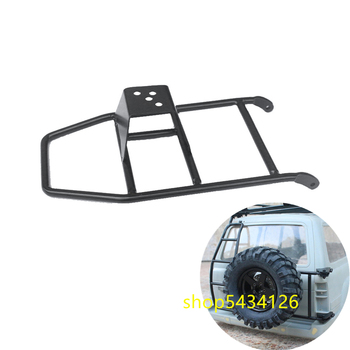 Black Metal Tire Mount Holder For 1:10 Rc Car Toyota Land Cruiser LC80 Body Spare Tires Fixed Rack Rc Crawler Accessories Parts image