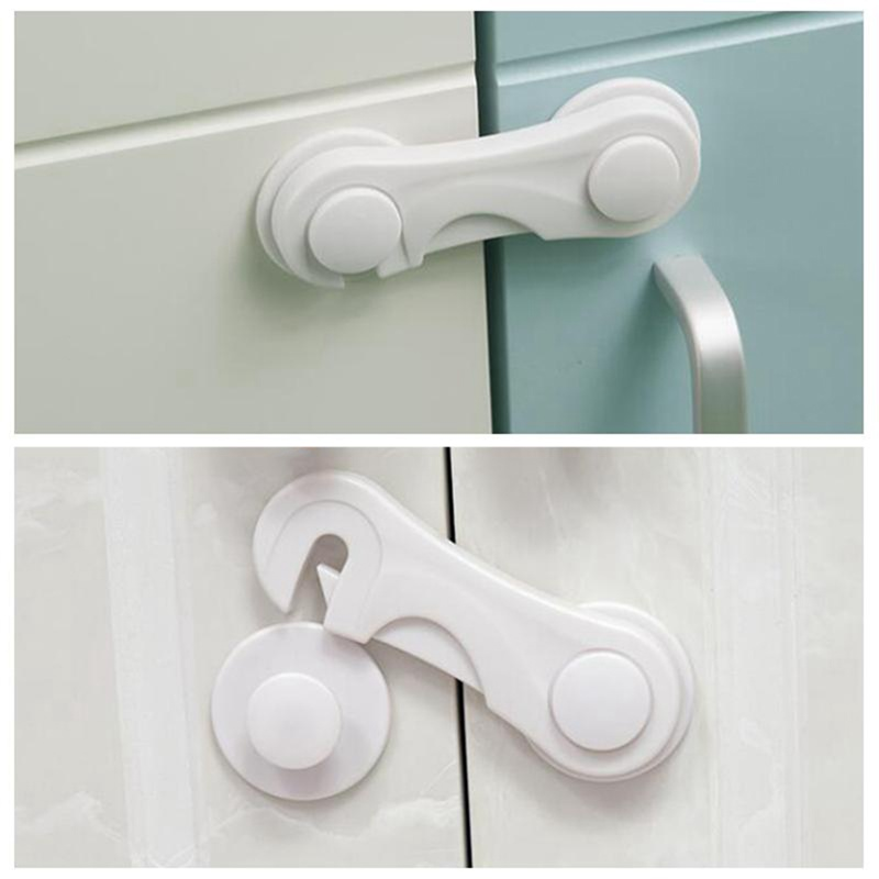 5pcs/set Baby Safety Drawer Cabinet Lock Children Security Plastic Protector Lock For Toilet Wardrobe Baby Security Blocker Lock