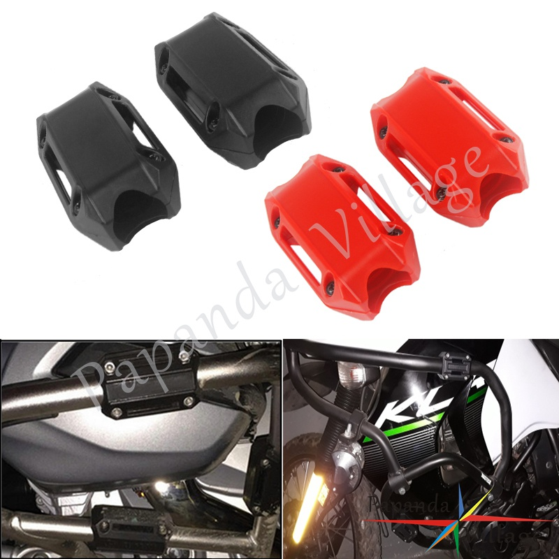 25MM <font><b>Crash</b></font> <font><b>Bar</b></font> Protector Bumper Decor Block For <font><b>Honda</b></font> <font><b>NC700X</b></font> VFR1200X Suzuki V-Strom DL 650 1000 Triumph BMW R1200GS R1500GS image
