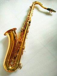 Tenor Saxophone instruments B flat gold Saxophone tenor Sax electrophoresis and case Free shipment