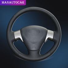 цена на Car Braid On The Steering Wheel Cover for Toyota Corolla 2006-2010 Matrix 2009 Auris 2007-2009 Auris 2007-2010 Old Collora Cover