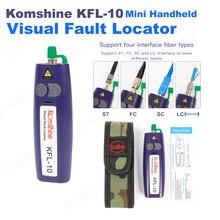 Komshine KFL 10 Mini Handheld Visual Fault Locator VFL Optical Fiber Cable Tester Fiber Optic Fiber Break Checker