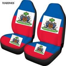 Набор чехлов для автомобильных сидений с принтом флага haiti