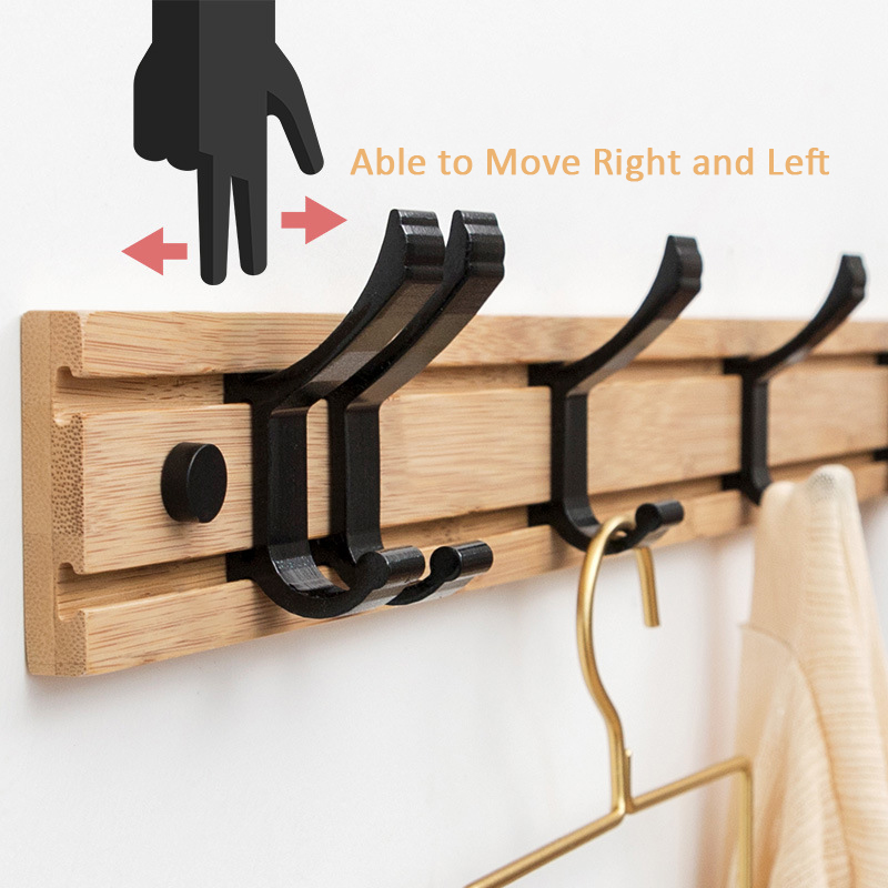 Hot Sale Nordic Wood Coat Rack Key Holder Clothes Hangers Simple Hook Wall Shelf Home Decorative Bedroom Furniture