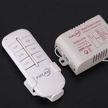 Светильник с переключателем, цифровой 220 В, беспроводной пульт дистанционного управления, передатчик, дистанционное управление, вкл/выкл, 4 сплиттера, практичный