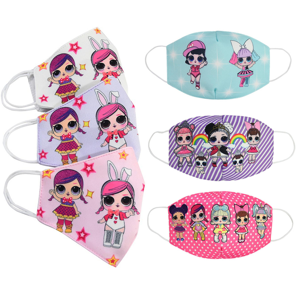 Kids Anti Dust Face Mouth Mask Reusable Breathable Cotton Protective Children Girls Cartoon Cute PM2.5 Anti-Dust Mouth Face Mask