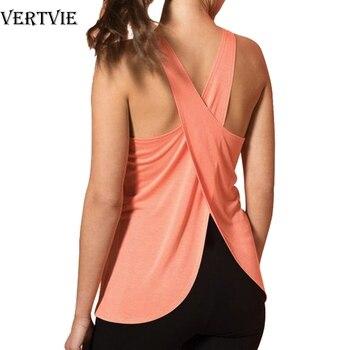 Cross Back Yoga Shirt 1