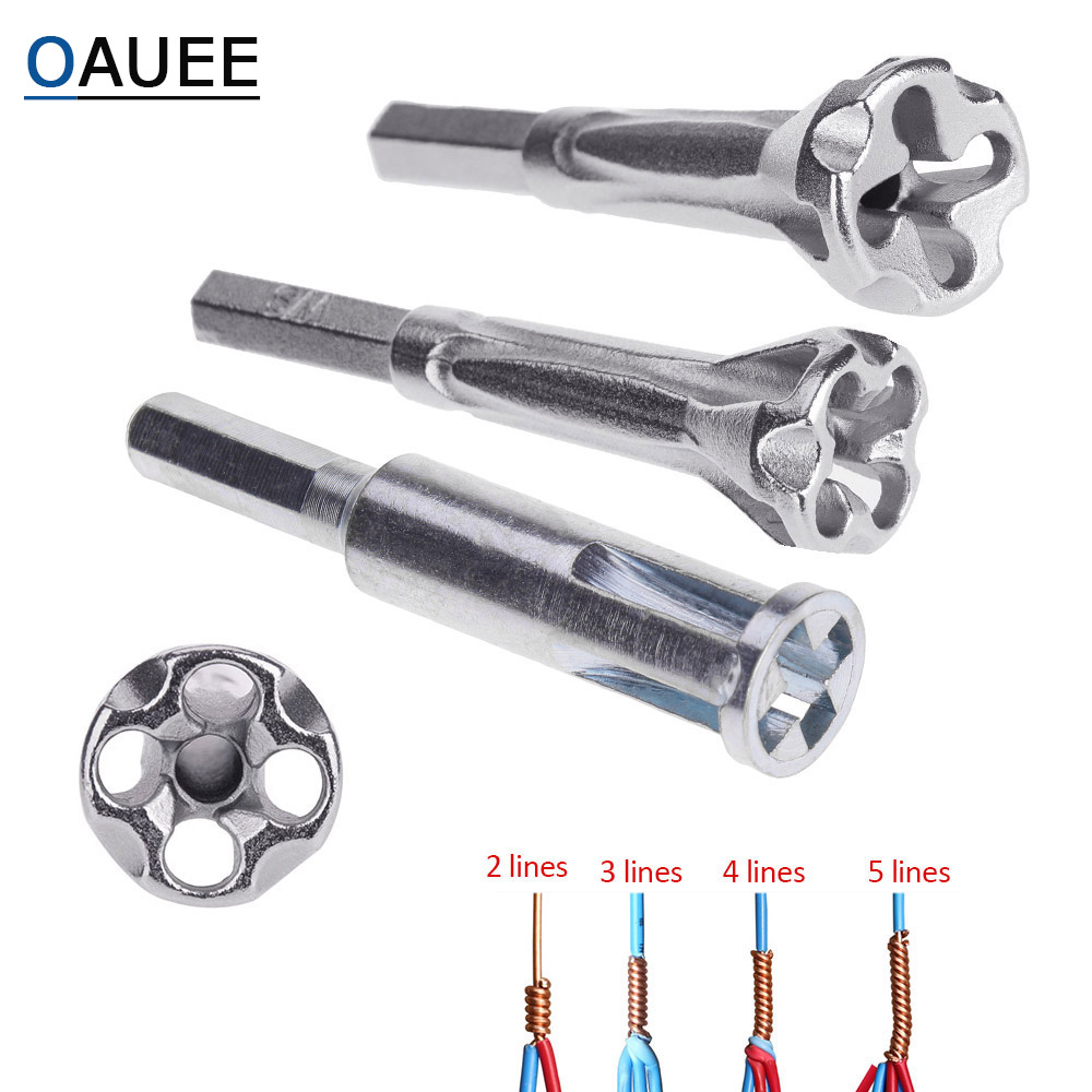 Electrical Twist Wire Tool 2~5 Hole Electrician Universal Automatic Twisting Wire Stripping Doubling Machine Connector