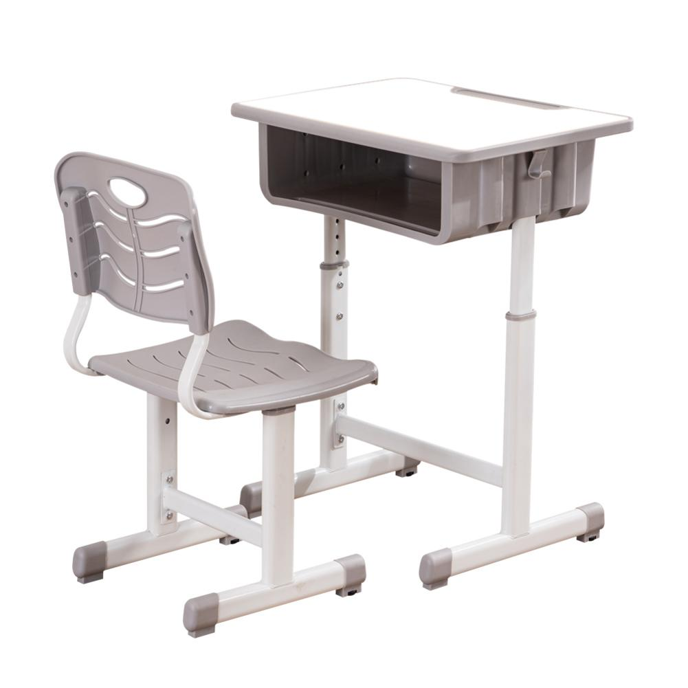 8 X 8 X (8.8-8)cm Adjustable Students Desk Kids Study Desk And Chairs  Set White Home Holder Shelf Multifactional Tables