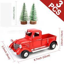 OurWarm חג המולד אדום שולחן עבודה קישוט קישוטי ילדים חג המולד לשנה חדשה מתנות בציר מתכת עיצוב הבית