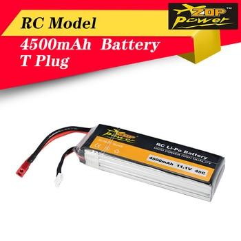 Batería Lipo 3S de 11,1 V, 45C, 4500mAh, enchufe en T para Dron de carreras RC, novedad ZOP Power