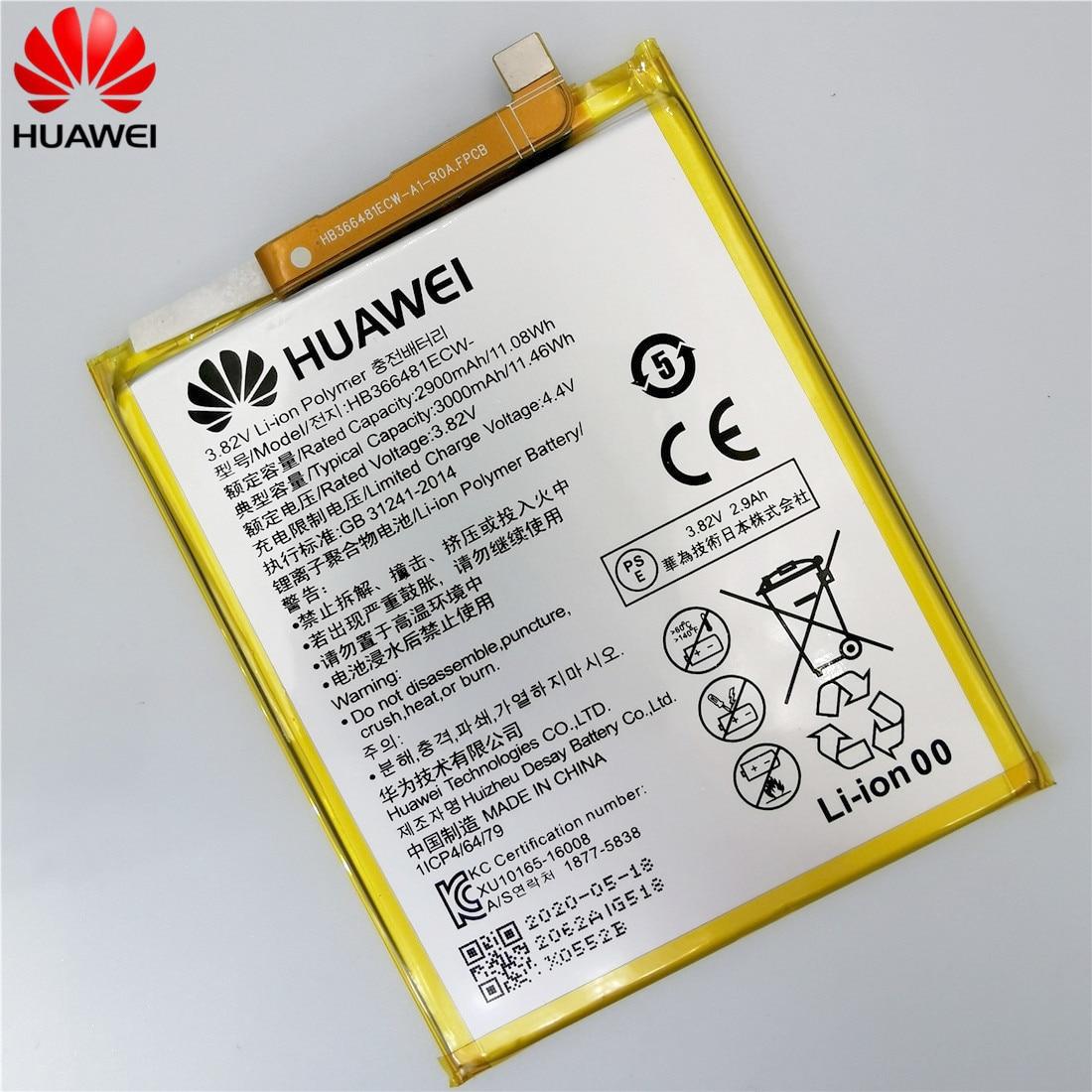 2020 original Real 3000mAh HB366481ECW For Huawei p9/p9 lite/honor 8/p10 lite/p8 lite 2017 /p20 lite/p9lite battery +Tool 4