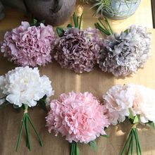 Simulation Peony Fake Flowers Wedding Artificial Hydrangea Skil Home Wedding Party Birthday Floral Decor 1 Bouquet 5 Head DIY перфоратор skil 1766la