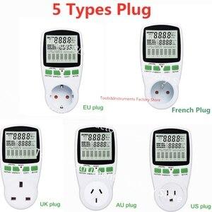 Digital LCD Energy Mete Power Meters 230v Voltage Wattmeter Watt Energy Meter Electricity Analyzer Monitor EU French US UK AU