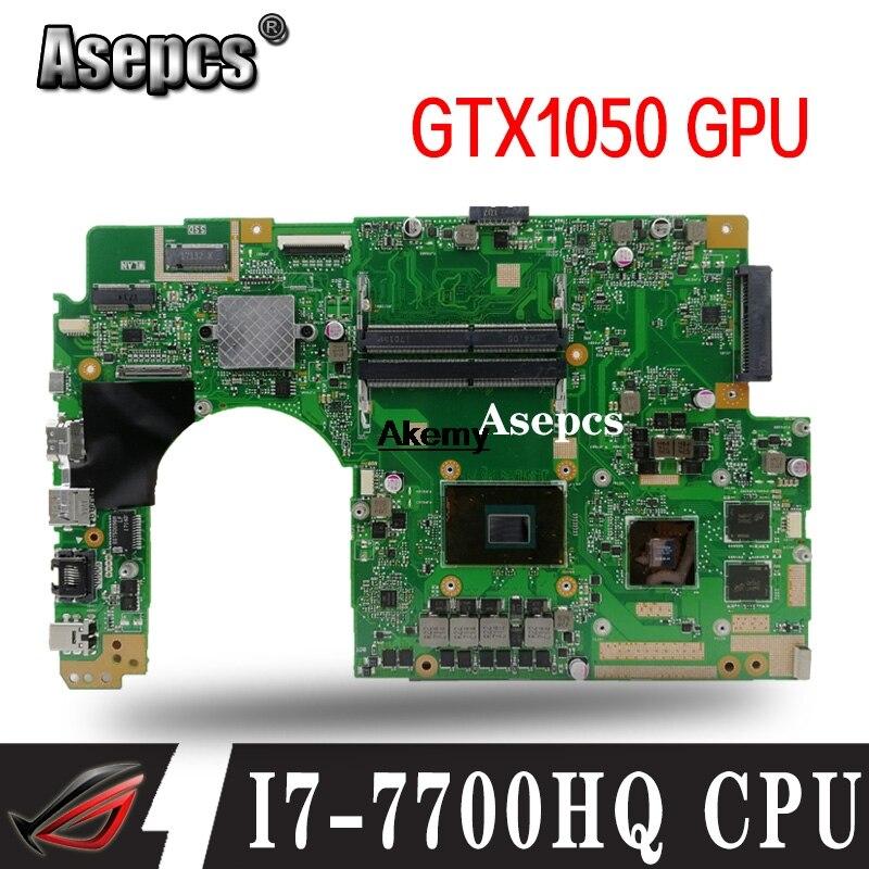 For ASUS X580VN X580VD X580V Mainboard Laptop Motherboard  W/ I7-7700HQ CPU GTX1050 GPU
