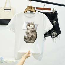 Funny Cat Black Tshirt Women 8 Colors Oversized Funny T Shirt Short Sleeve Cute Kawaii Tops Tees Femme Camisetas Verano Mujer