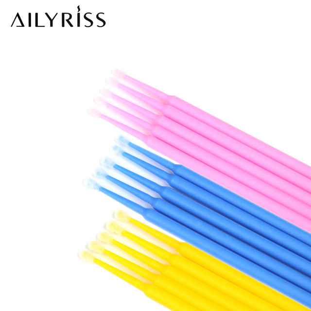 Disposable Micro Brush 100pcs Eyelashes Extension Individual Lash Removing Micro Brush Eyelash Extension Tool Lashes Accessories 1
