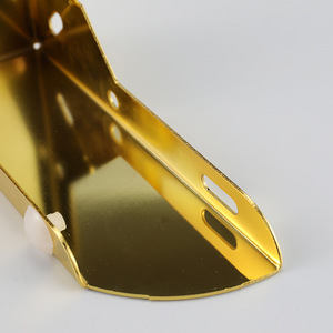 Image 2 - 4pcs זהב מתכת ריהוט רגליים עם גומי רגליים כרית ארון שולחן רגליים חומרת ספה ריהוט רגל רמה
