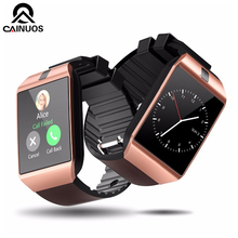 CAINUOS Bluetooth Smart Watch Relojes Smartwatch Relogios TF SIM Camera for IOS iPhone Samsung Huawei Xiaomi Android Phone smart watch android ios bluetooth phone clock for xiaomi samsung huawei apple smartwatch