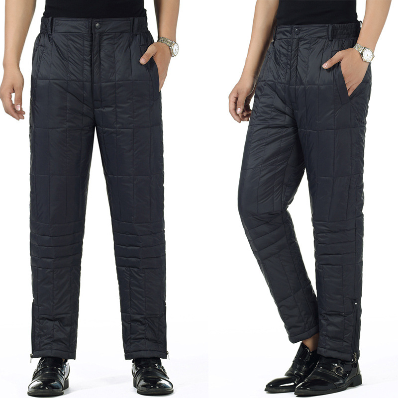 Middle-aged Men'S Wear Cotton-padded Trousers Men's Daddy Clothes Thick Quilted High-waisted Warm-keeping Pants Plus-sized Old M