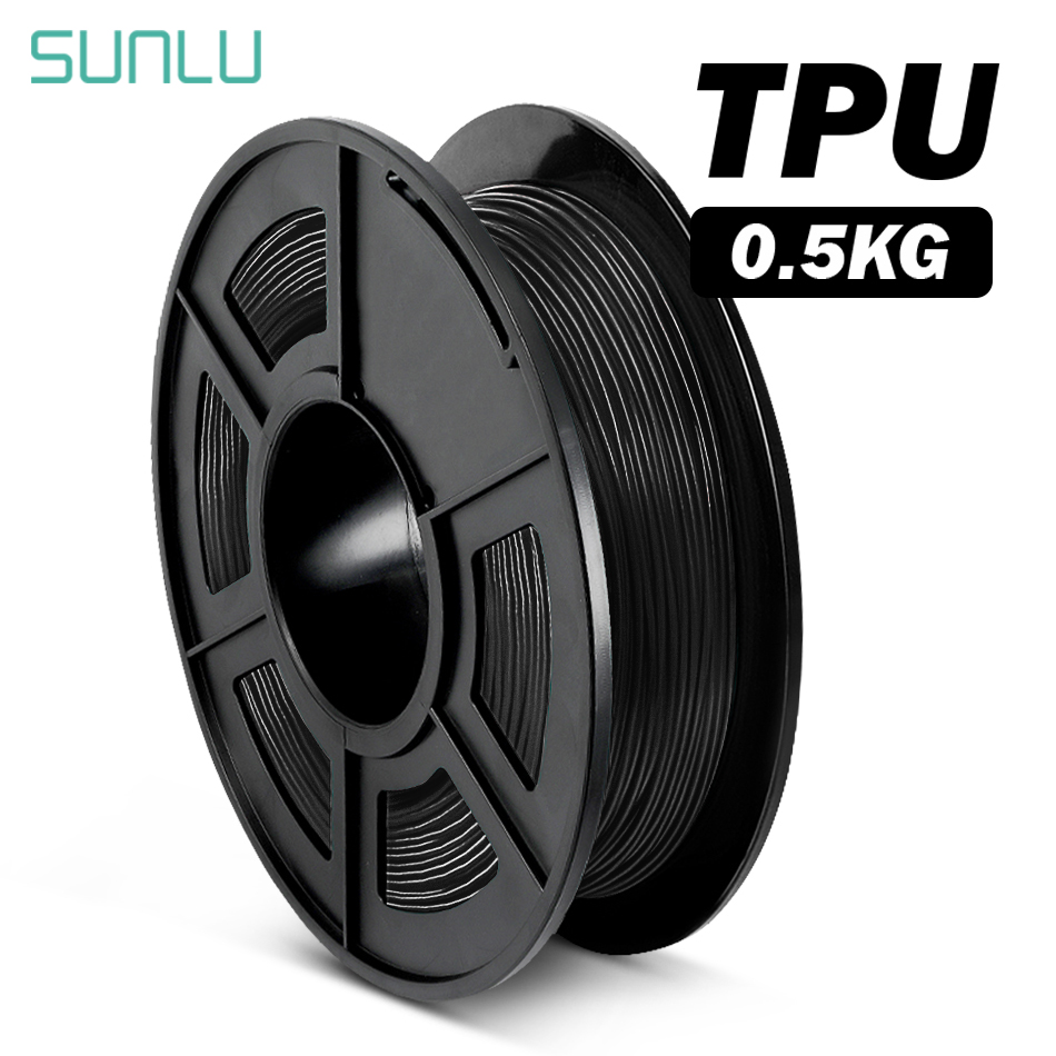 SUNLU 1.75mm TPU 3D Printing Filament Plastice Flexible TPU 3D Filament For 3D Printer Dimension Accuracy +/-0.02mm
