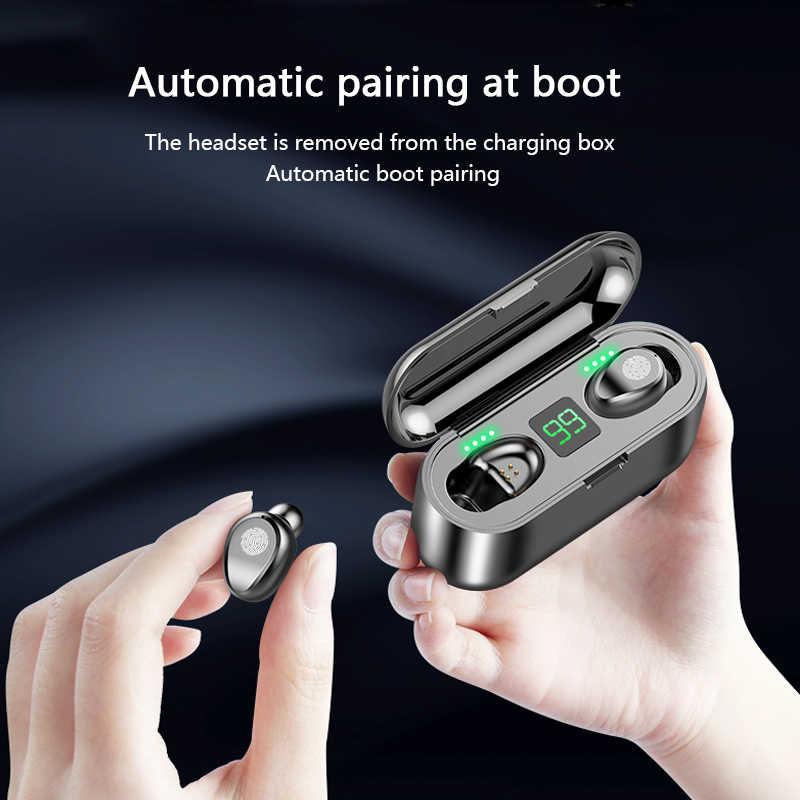 Bluetooth V5.0 наушники беспроводные наушники стерео Спортивные Беспроводные наушники-вкладыши гарнитура 2000 мАч Мощность для iPhone Xiaomi TWS блютуз наушники безпроводные наушникиbluetooth наушники наушники проводн