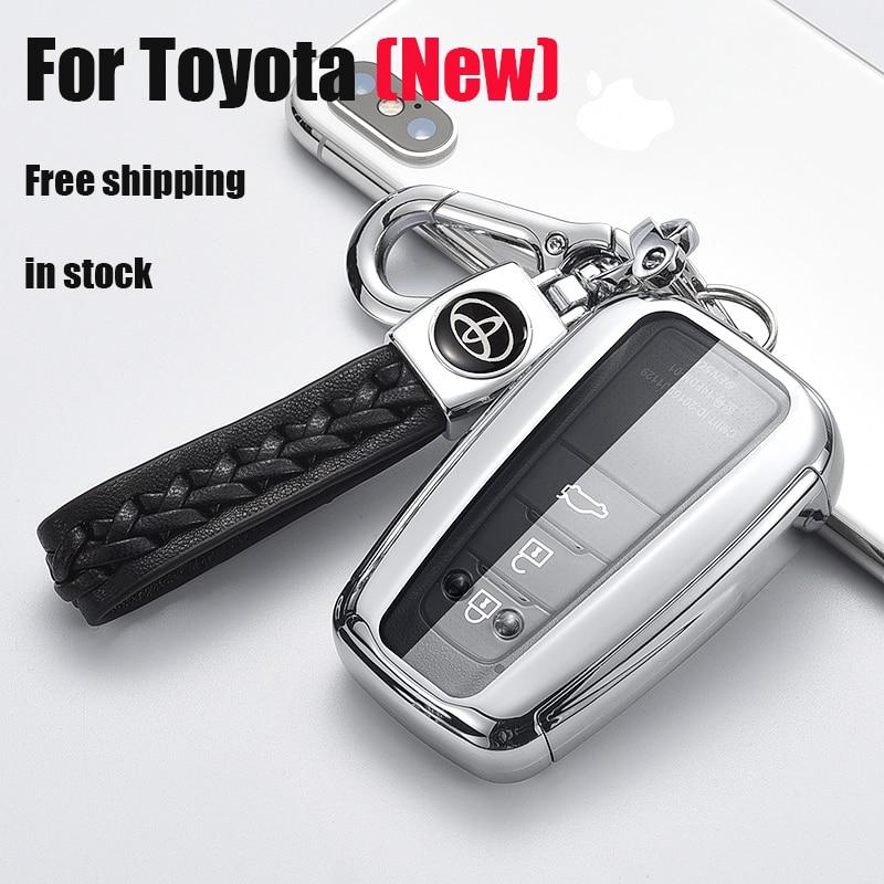 ZOBIG Car Key Fob Cover Case for Toyota CHR C HR Camry Prius Prado 2016   2018 2 3 Buttons Remote Key|Key Case for Car| |  - title=