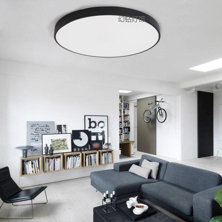 Macarons потолочный светодиодный ультра-тонкий изюминка круг спальня прихожая балкон железное художественное акриловое освещение