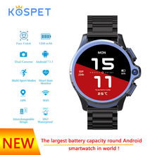 KOSPET Prime Smart watch Android Phone 1260mAh Battery Dual Camera Face ID unclok WiFi SmartWatch man GPS Maps Google play store(China)
