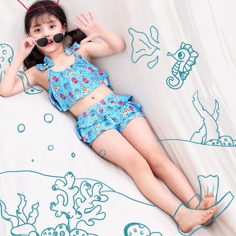 KID'S Swimwear GIRL'S Bow Baby One-piece Cute Princess Dress-Kids Girls Swimming Suit A Generation Of Fat