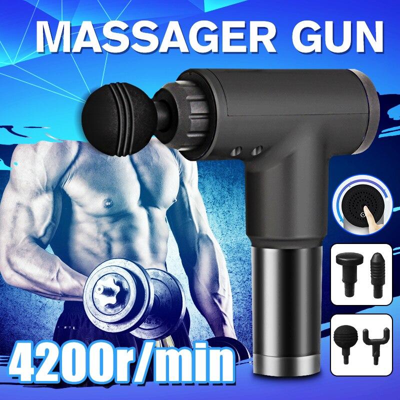 Puissant corps thérapie musculaire pistolets de Massage électrique Booster Vibration Percussion 4200r/min masseur maison profonde soulagement de la douleur des tissus
