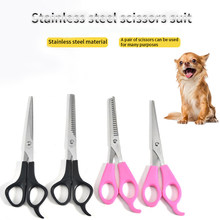Pet Dog Scissors Durable Hair Cutting Tool Stainless Steel Hair Straight Thinning Shears Scissors For Dog Cat Pet Gromming Tools