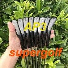 Czarny golf żelazka nowy AP3 718 żelazka kute zestaw (3 4 5 6 7 8 9 P) z dynamicznym złota S300 wał stalowy kluby golfowe
