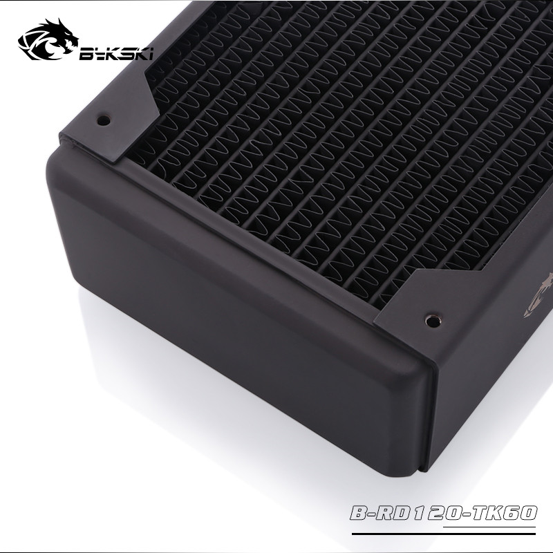Image 3 - Bykski Water Cooling Copper Heatsink Case Cold Row Radiator 60mm  Thickness For 120*120mm Fans B RD120/240/360 TK60Fans