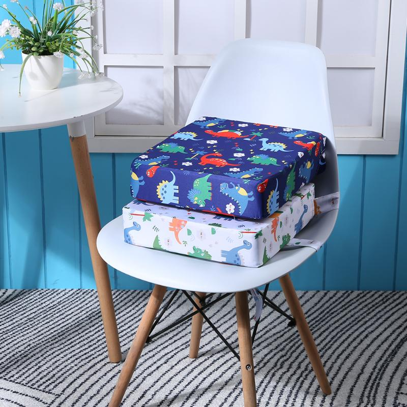 Cute Kids Increased Chair Pad Modern Removable Linen Cushion Baby Anti-skid Baby Dining Chair Mat Table Chair Cushion Booster