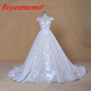 Image 1 - Robe de mariée sur mesure, robe de mariage brillante, robe de mariée, à manches courtes, sur mesure, robe de bal dubaï bling, directement à lusine, 2020