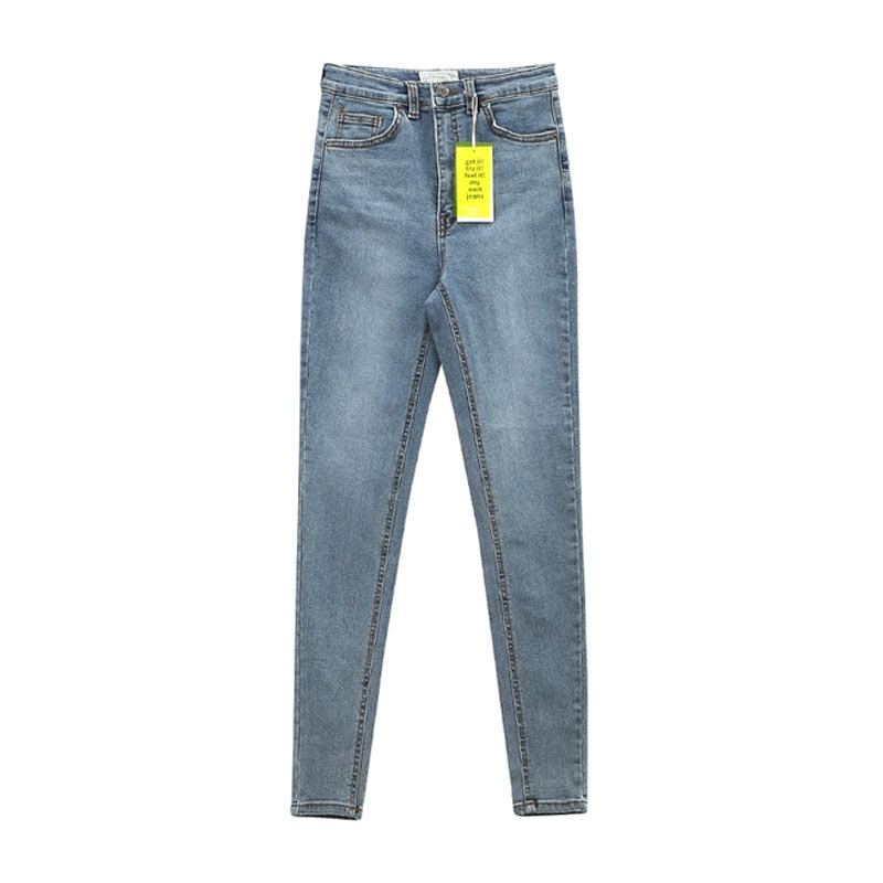 Women's Jeans High Waist Stretch Skinny Denim Pants 2020 Autumn Winter Blue Retro Washed Elastic Slim Pencil Trousers 6