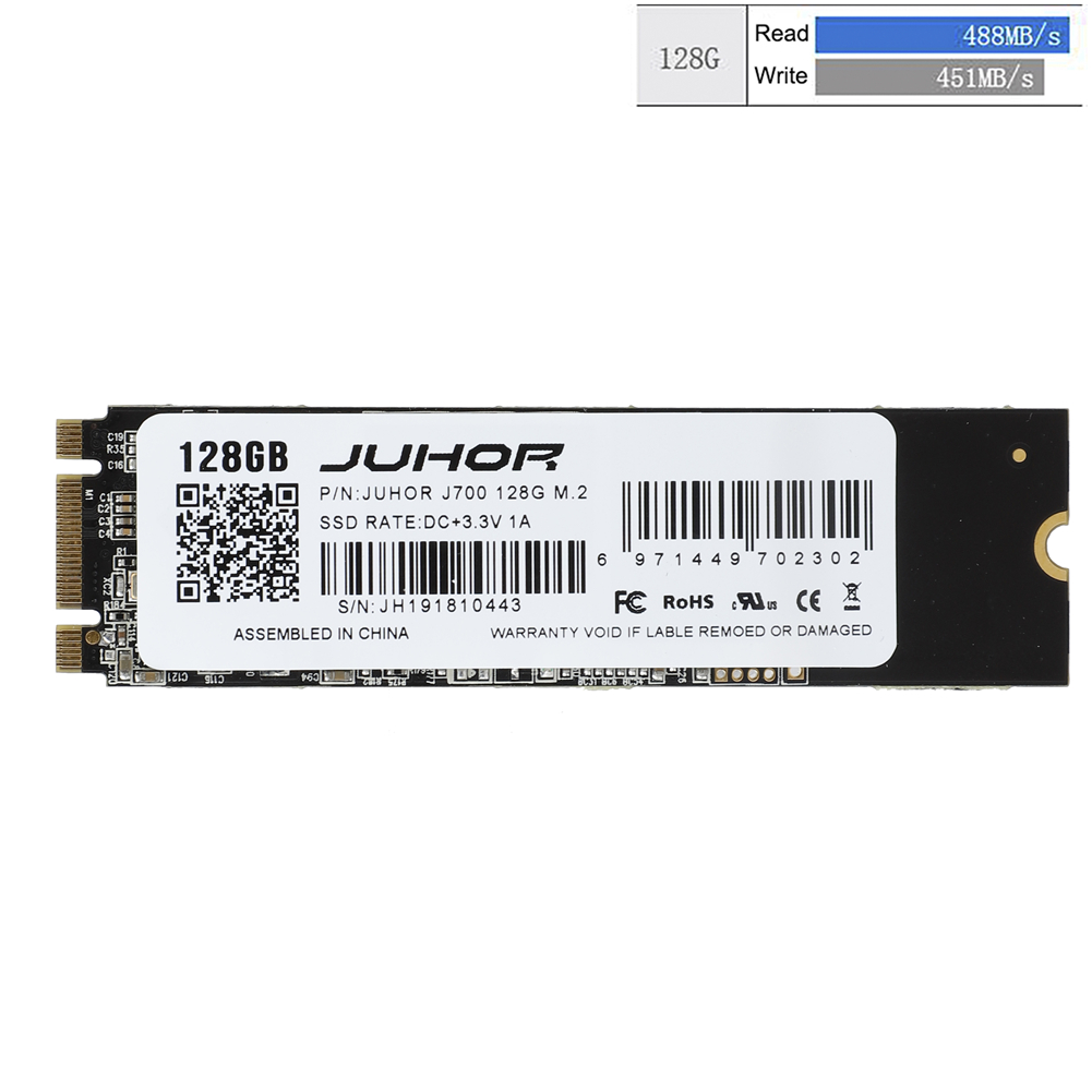 JUHOR M.2 SSD 128GB 256GB HDD 2280 NGFF M2 SATA 1tb 2tb Hard Drive for Laptop Desktop