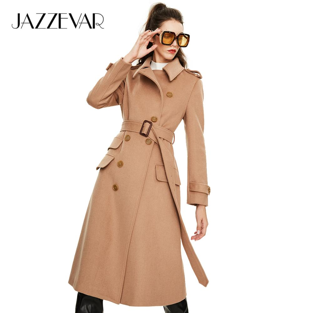 JAZZEVAR 2019 New arrival autumn trench coat women slim clothing high quality new popular double breasted long coat women N9066(China)