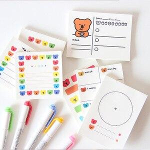 TOYOU 50 листов Kawaii Rainbow Koala блокноты простой стиль сделать список еженедельник стикеры школьные принадлежности корейские канцелярские принад...