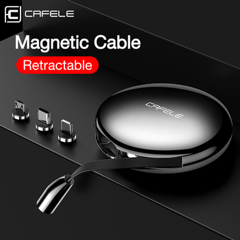 Cafele Retractable Magnetic USB Cable For iPhone Charger Micro USB Type C Cable For Huawei Xiaomi Samsung S10 3A Fast Charging