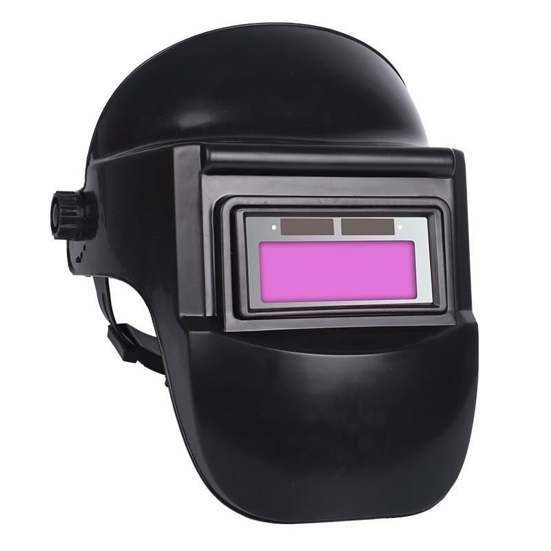 Solar Auto Darkening Protective Mask Welding Helmet Shade Adjustment Anti-Glare Lens Grinding Arc Tig Mig Head-Mounted Black
