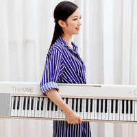 Portable TheONE Keyboard Air 61 Key Ultra-thin Electronic Organ Bluetooth Connection Free APP Magic LIght Keyboard