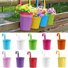 Hanging-Vase Flower-Barrel Balcony-Pots Planters-Wall Garden-Supplies Pastoral-Flower-Holder