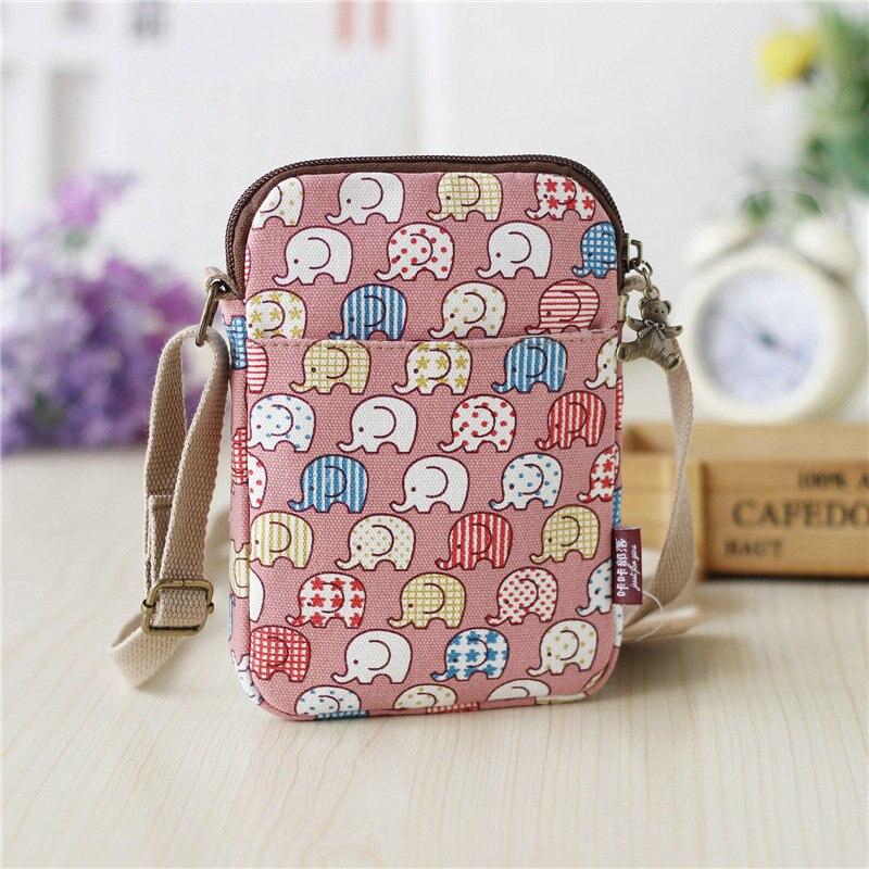 Cute Mobile Phone Bag Women Bag Messenger Bag New Mini Bag Cute Coin Purse Summer Shoulder Canvas Bag