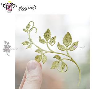 Piggy Craft metal cutting dies cut die mold Leaf strip decoration Scrapbook paper craft knife mould blade punch stencils dies(China)
