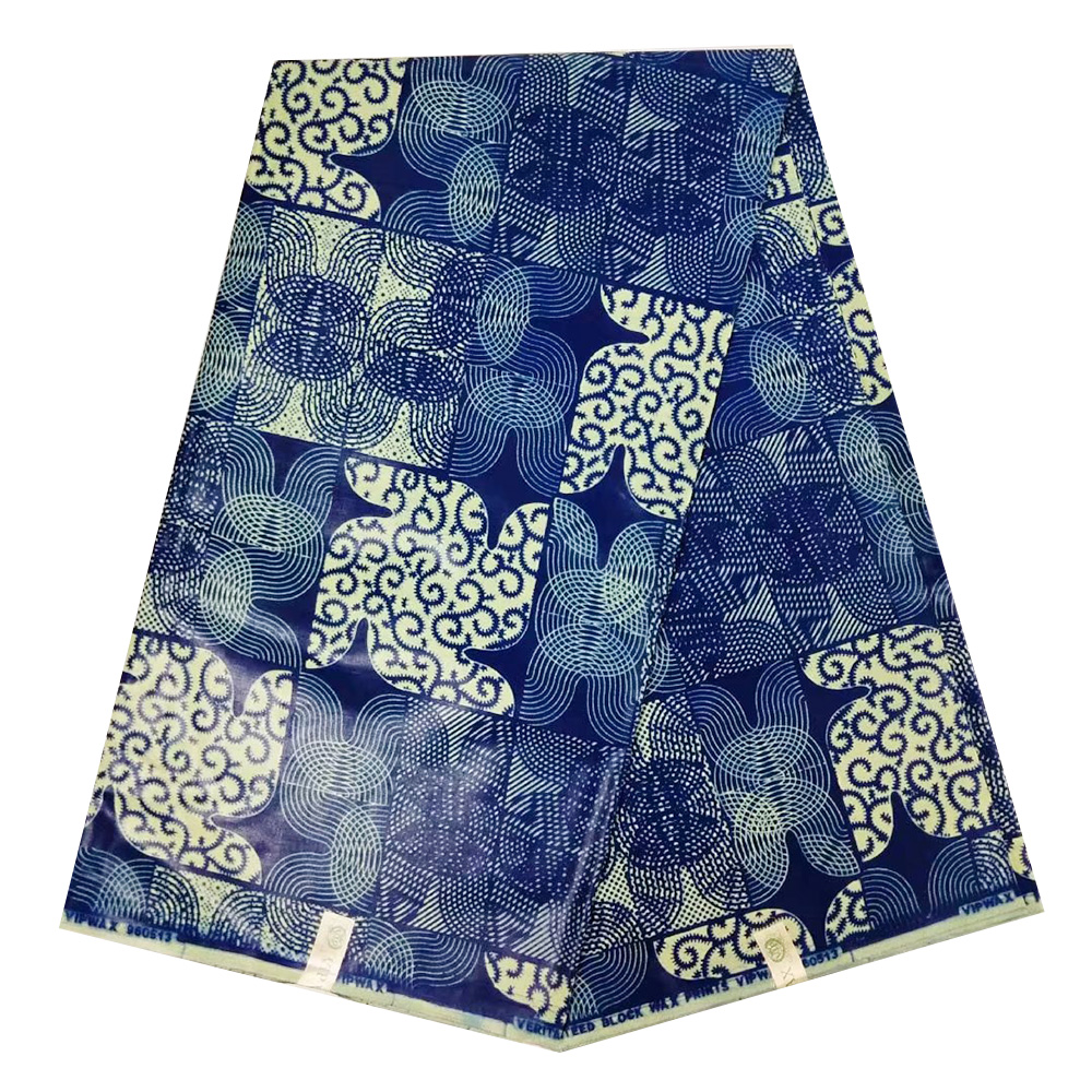 2019 Latest Veritable Block Print Real Dutch Wax Holland 100% Cotton African Nigerian Java Wax Pange Fabric For Dress Batik