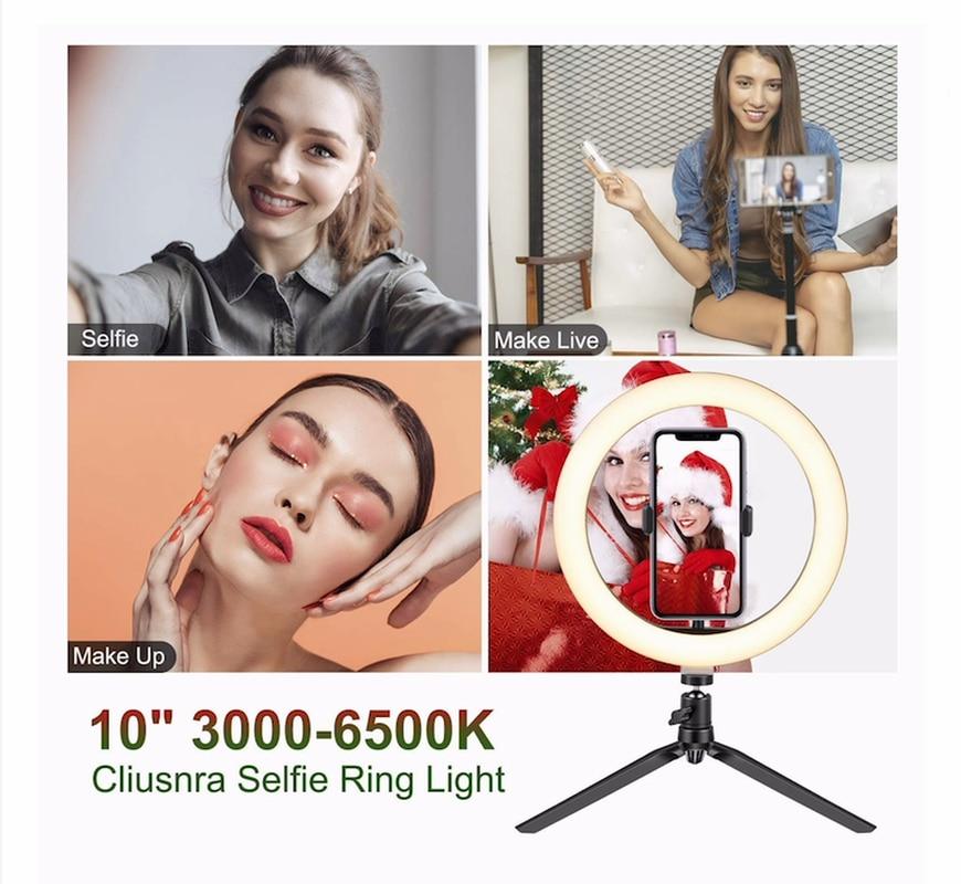 Купить светодиодный настольный штатив для селфи кольцевой светильник