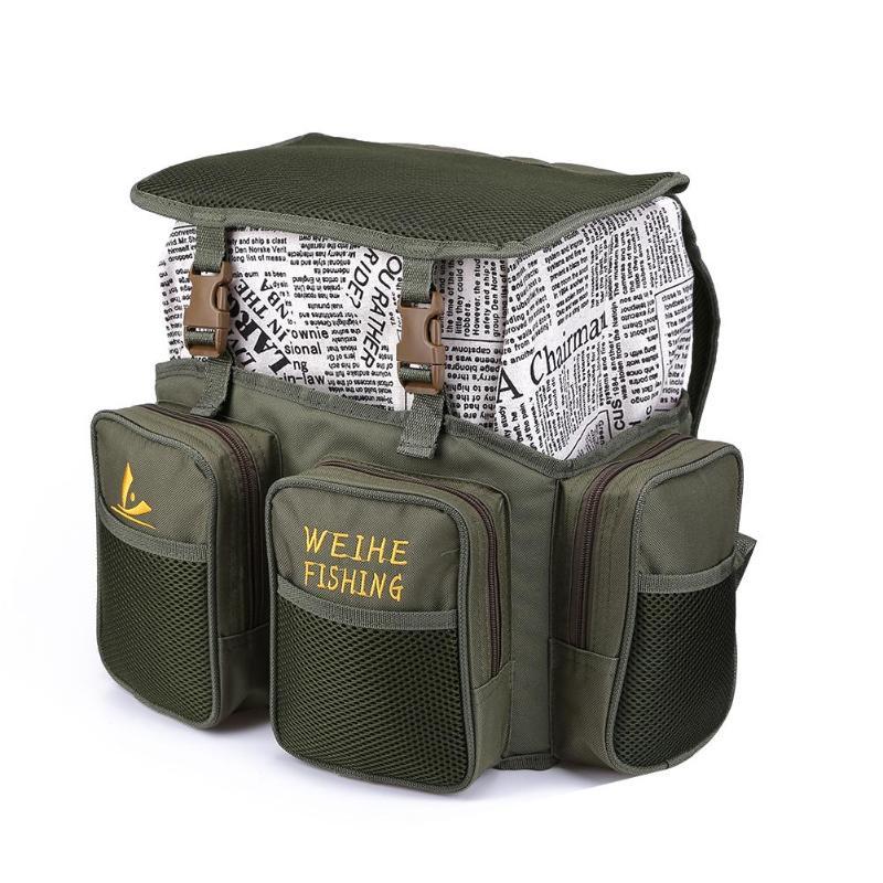 Sac de pêche multifonctionnel boîte à appâts en Nylon sac à dos de stockage paquet étanche leurre Pack carpe poisson attirail Pesca sac à dos Mochila