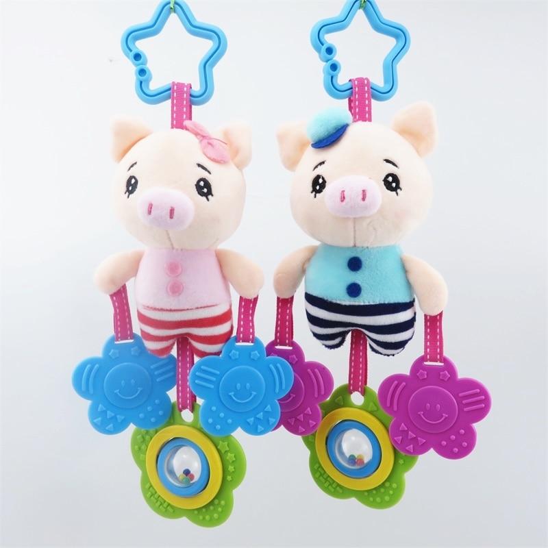 Crtani slon magarac plišane igračke beba zvečka ručno zvono - Igračke za bebe i malu djecu - Foto 2